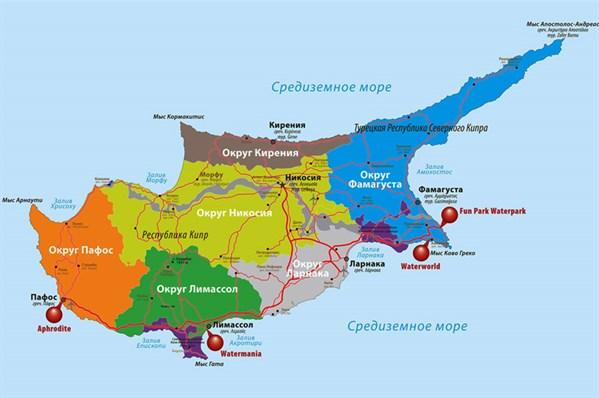 Карта Кипр